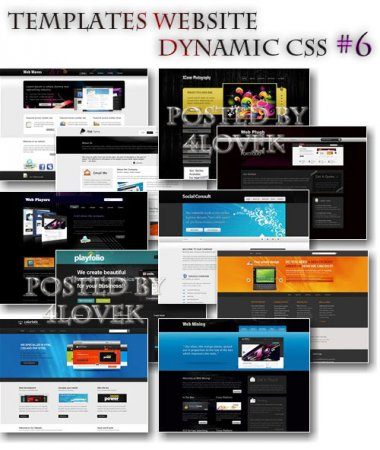 Templates Website Dynamic CSS #6