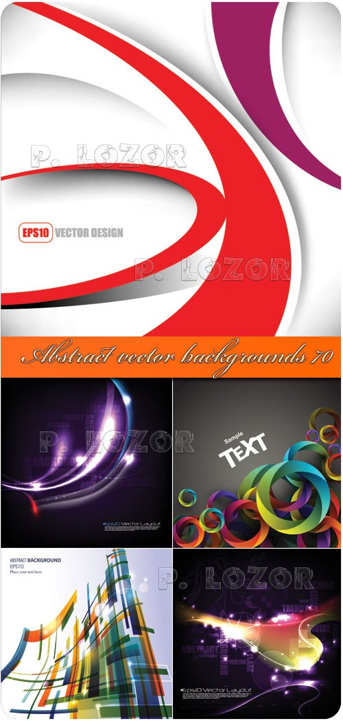 Abstract vector backgrounds 70