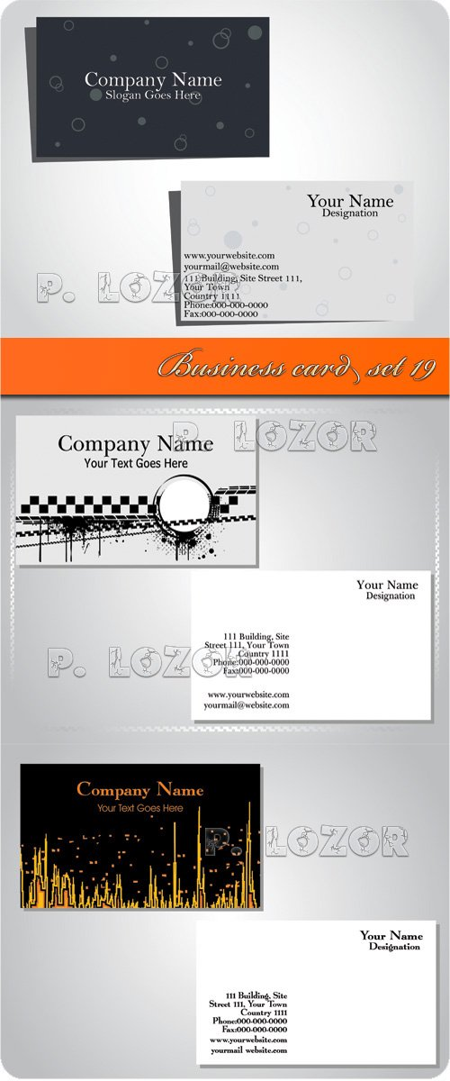 Business card set 19