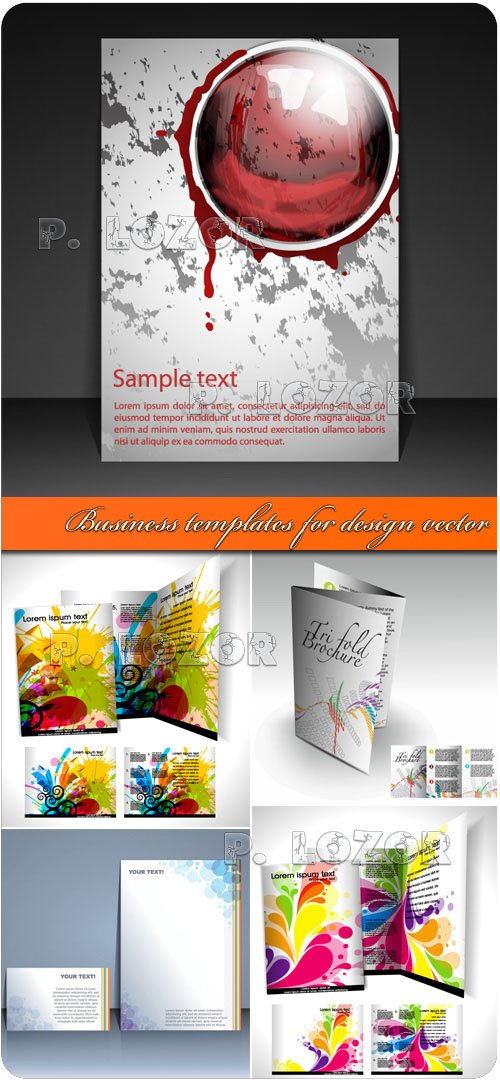 Business templates for design vector