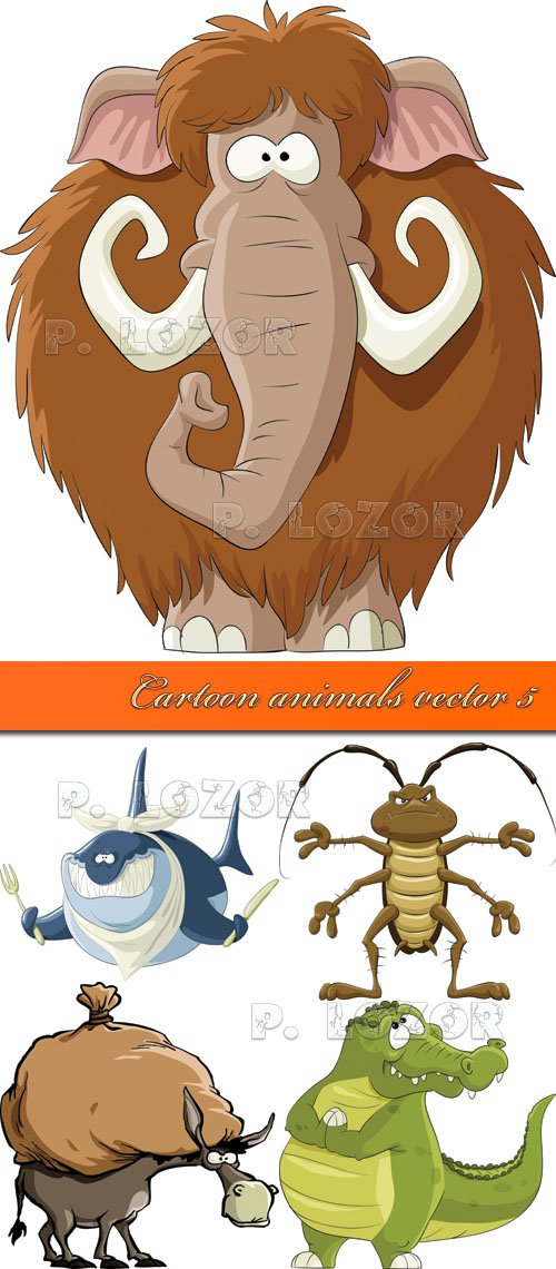 Cartoon animals vector 5