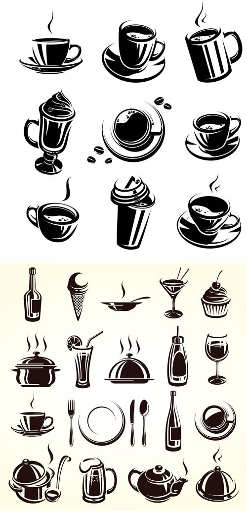 Coffee, Food and Drink - Vector Stock