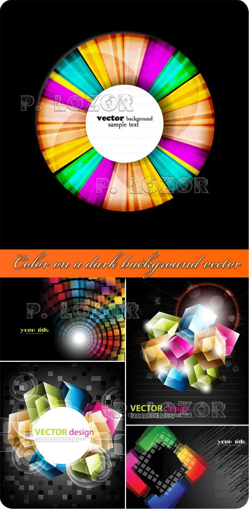 Color on a dark background vector