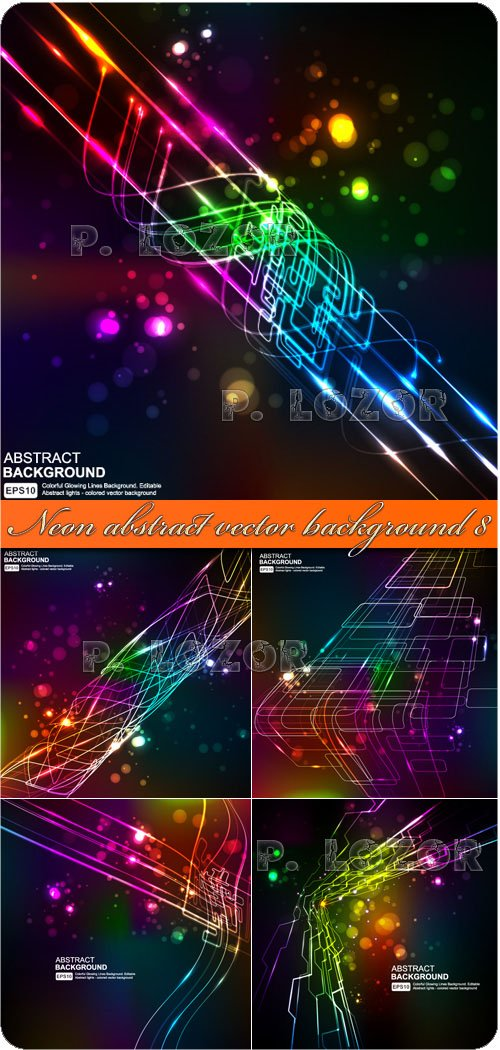 Neon abstract vector background 8
