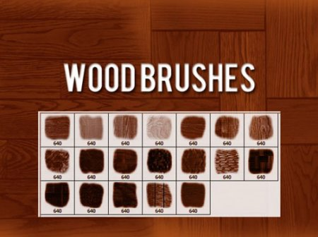 Wood Brushes for Photoshop